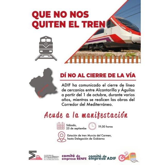 La Plataforma Unitaria Marchas de la Dignidad-Plan de Choque Social apoya la manifestación del 25 de septiembre en defensa del tren