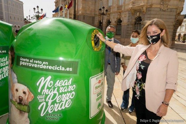 Cartagena reafirma su compromiso con el reciclaje de vidrio participando en la campaña No seas más raro que un perro verde - 2, Foto 2