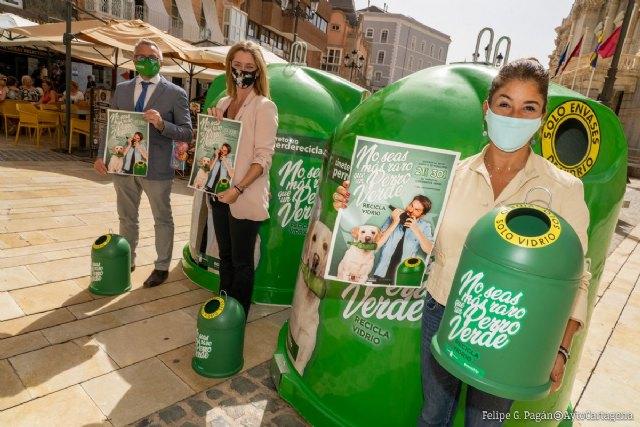 Cartagena reafirma su compromiso con el reciclaje de vidrio participando en la campaña No seas más raro que un perro verde - 3, Foto 3