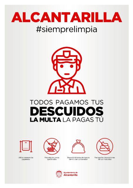 El Ayuntamiento de Alcantarilla pone en marcha la campaña Alcantarilla #siemprelimpia - 1, Foto 1