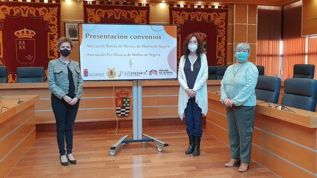 El Ayuntamiento de Molina de Segura y la Asociación Pro Música presentan el convenio firmado para la promoción de actividades musicales durante 2020 - 3, Foto 3