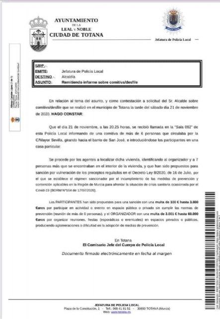 Comunicado de Acción Totana ante otro abuso de autoridad del Sr. Alcalde - 2, Foto 2