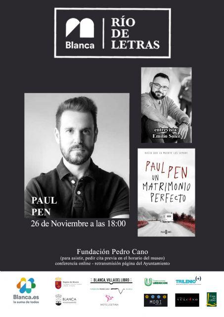 Paul Pen será el segundo invitado del ciclo literario 'Río de Letras' - 2, Foto 2