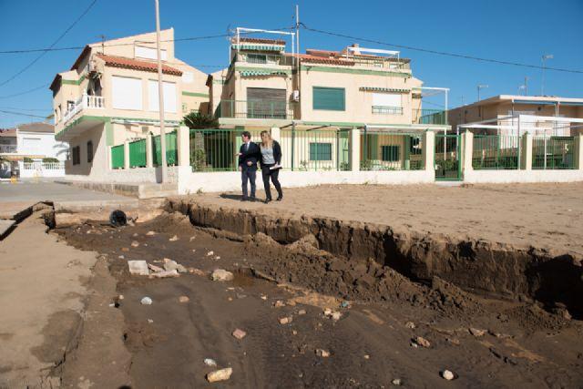 El Delegado del Gobierno comprueba los daños en la costa de Mazarrón ocasionados por el temporal, Foto 4