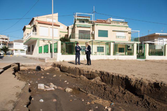 El Delegado del Gobierno comprueba los daños en la costa de Mazarrón ocasionados por el temporal, Foto 5