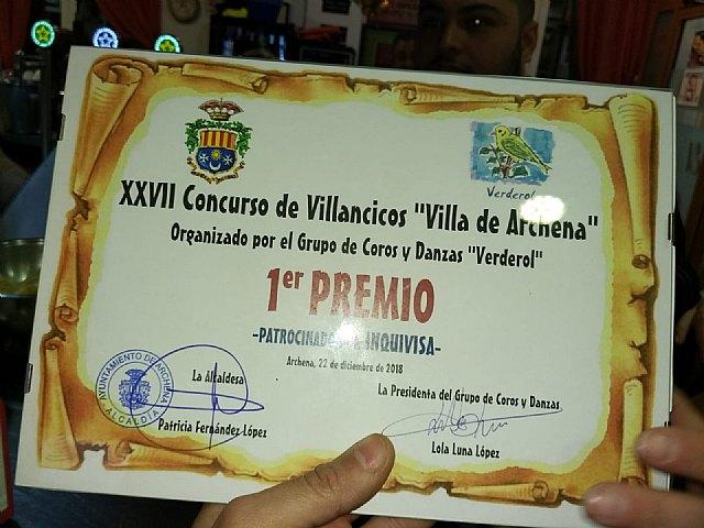 La tuna de la Facultad de Medicina de Murcia se alza con el primer premio del XXVII Concurso Nacional de Villancicos de Archena - 5, Foto 5