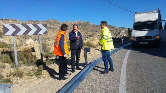 Fomento mejora la seguridad vial de la carretera que comunica Ojós con Archena - 1, Foto 1