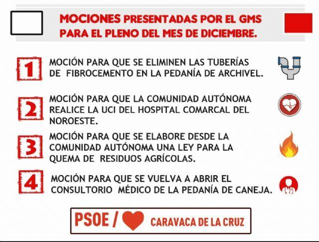 El Grupo Municipal Socialista presenta al pleno del 21 de diciembre mociones para mejorar la vida de los caravaqueños - 1, Foto 1