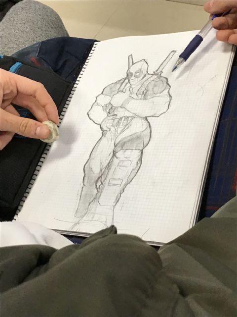 El dibujante de Marvel, Salva Espín, imparte tres clases magistrales a alumnos y vecinos de Fuente Álamo - 2, Foto 2