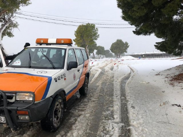 "Civil Protection provides a total of ten services in Totana during the temporary ""Gloria"", Foto 1"