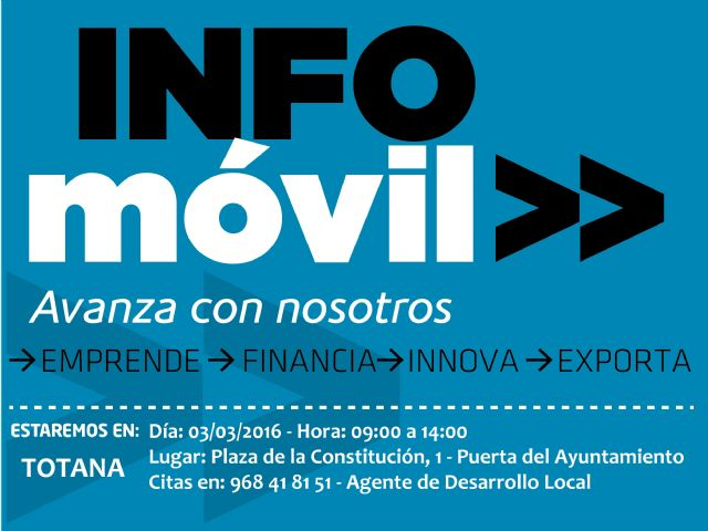 "The ""Infomóvil"" Totana office visit next March 3"