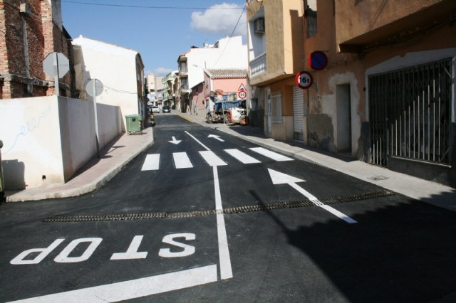 The section of the Cañada Zamora that has been arranged between Avenida de Lorca and Santiago Street is opened to traffic