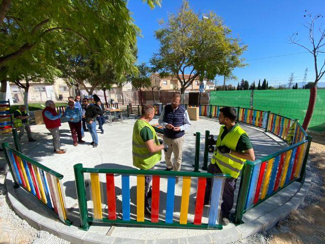 Los vecinos de La Ñora disfrutarán en primavera del renovado Jardín Calle Río Ebro - 1, Foto 1