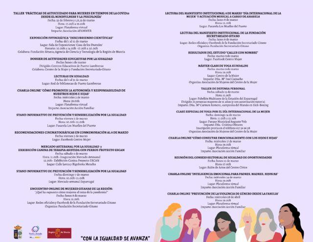 Puerto Lumbreras conmemora el día Internacional de la Mujer con un mes de marzo repleto de actividades - 3, Foto 3