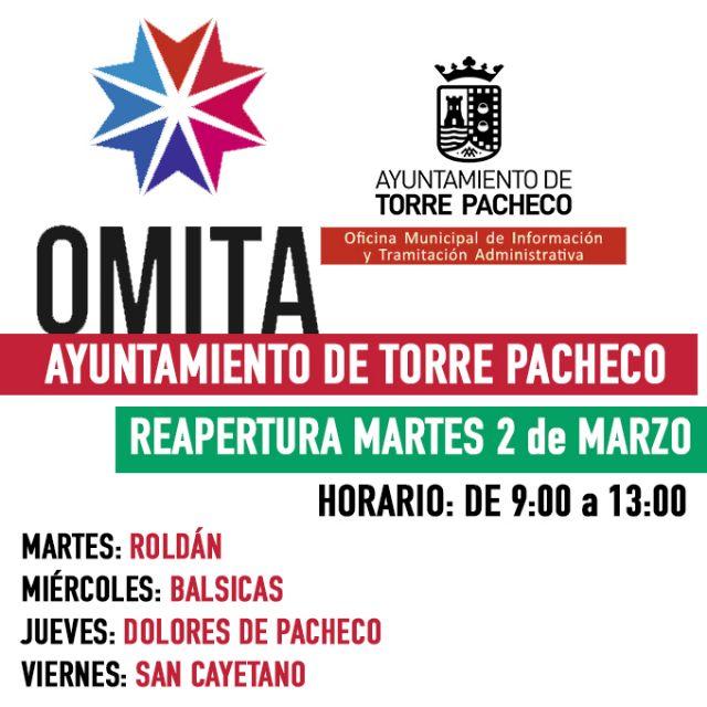 Reapertura de las OMITAS de Roldán, Balsicas, Dolores de Pacheco y San Cayetano - 1, Foto 1