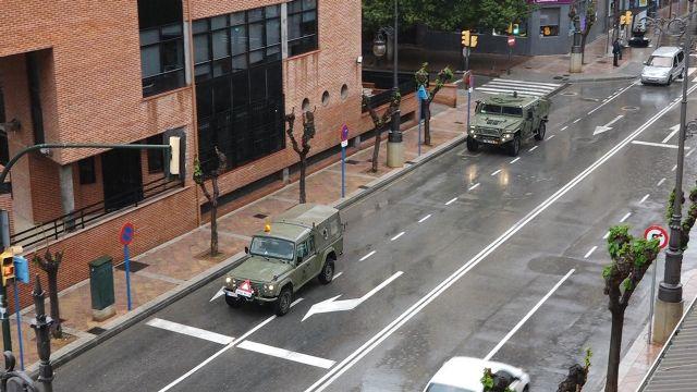 Las Fuerzas Armadas llegan a Molina de Segura para colaborar en la vigilancia y control de circulación de vehículos y personas y en las labores de desinfección de puntos sensibles para prevenir la expansión del COVID-19 - 4, Foto 4