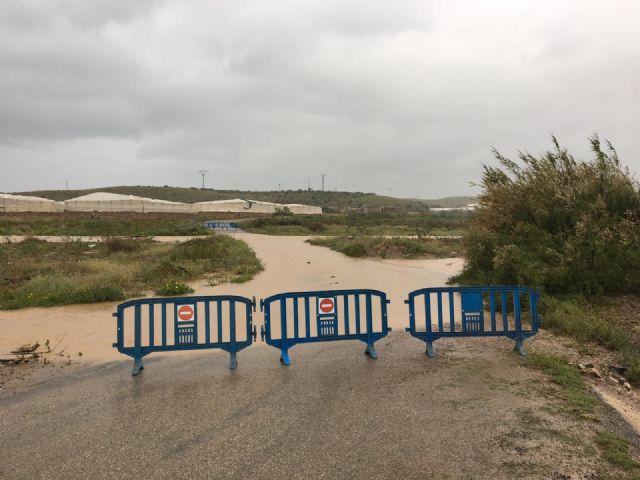 Corte de carreteras en Mazarrón con motivo de las últimas lluvias - 1, Foto 1