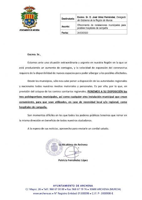Covid-19. Otra de las medidas del Plan de Emergencia Municipal de Archena - 3, Foto 3