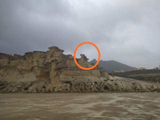Las Erosiones de Bolnueno dañadas por el temporal, Foto 1