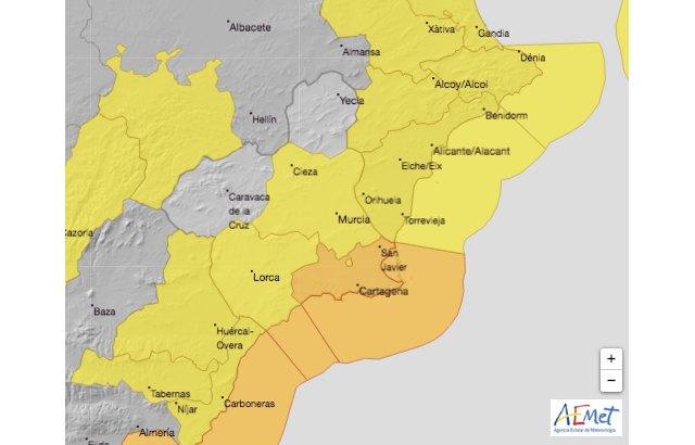 Murcia registra 67 l/m2 de lluvia durante las últimas 24 horas - 1, Foto 1