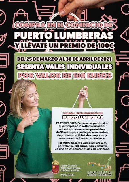 La campaña Compra en Puerto Lumbreras y llévate un premio sorteará 60 vales de 100 euros entre quienes hagan sus compras en el comercio local - 3, Foto 3