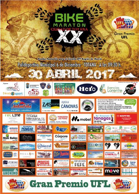 El próximo domingo 30 de abril tendrá lugar la XX Bike Maraton ciudad de Totana, Foto 2