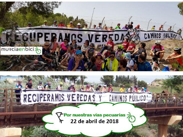 MurciaenBici reivindica la apertura de los caminos públicos y la defensa de las Vías Pecuarias - 1, Foto 1