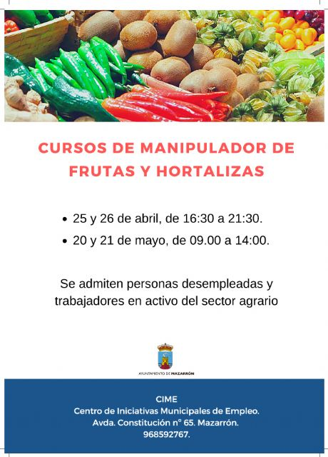 El CIME oferta dos nuevos cursos gratuitos de manipulador de frutas y hortalizas - 1, Foto 1