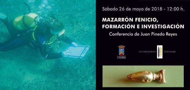 El arquéolo Juan Pinedo ofrece una conferencia que profundiza en el pasado fenicio de Mazarrón - 1, Foto 1