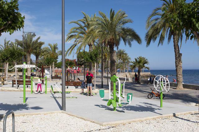 El PP visita a las nuevas instalaciones de gimnasia que alberga el Paseo Marítimo de Puerto de Mazarrón - 3, Foto 3