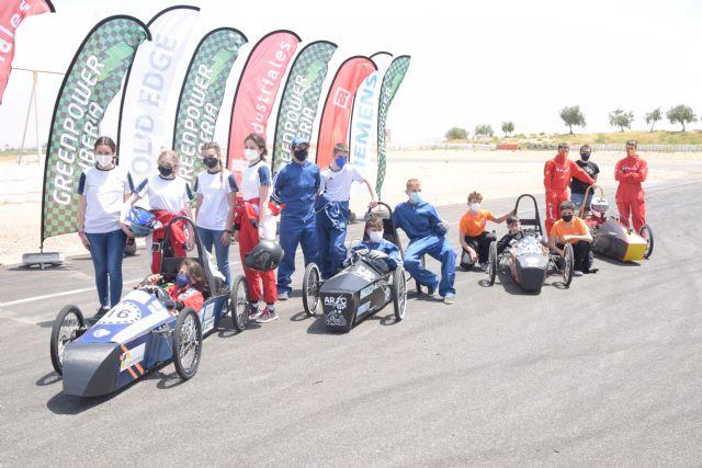 El monoplaza eléctrico del IES Arzobispo Lozano de Jumilla gana la carrera de la II Greenpower Región de Murcia - 1, Foto 1