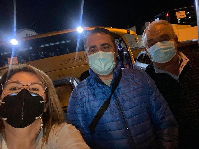 [El PP de Totana participó hoy en Madrid en la manifestación en defensa del Trasvase