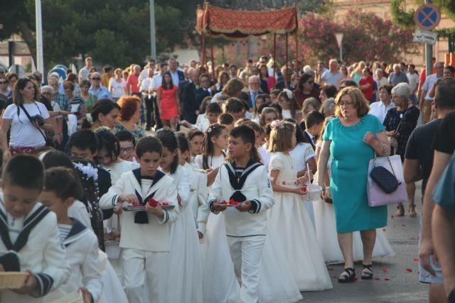 Decenas de niños de comunión procesionan en San Pedro y Lo Pagán con motivo del Corpus Christi 2019 - 2, Foto 2