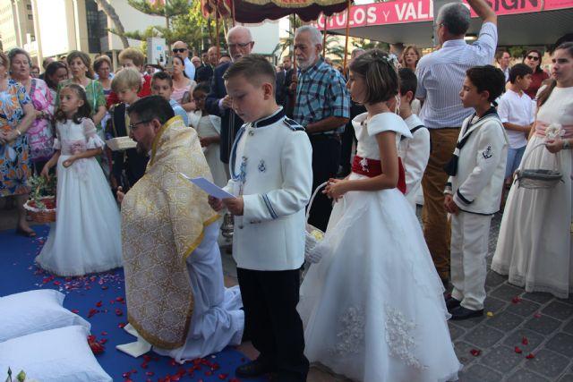 Decenas de niños de comunión procesionan en San Pedro y Lo Pagán con motivo del Corpus Christi 2019 - 3, Foto 3