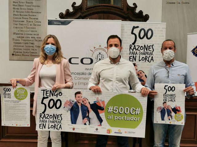 Presentan la campaña 500 razones para comprar en Lorca con el objetivo de fomentar el comercio local - 1, Foto 1