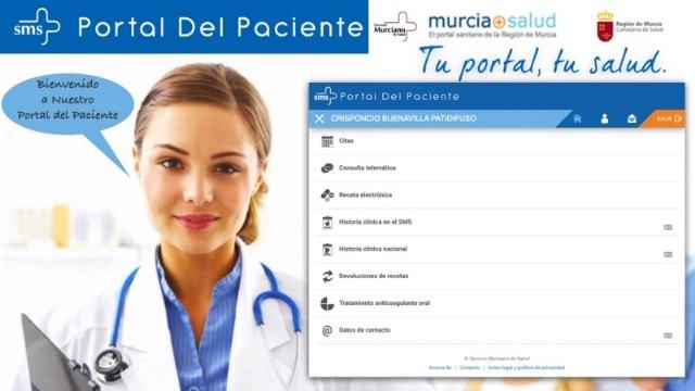 Procedimiento para realizar gestiones con el centro de salud a través de la aplicación El Portal del Paciente, Foto 1