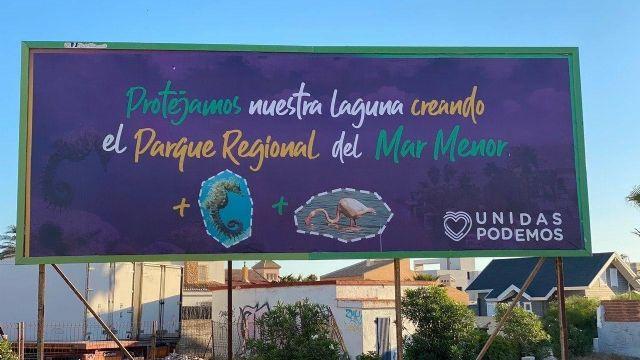 Unidas Podemos lanza una campaña para concienciar sobre la necesidad de que el Mar Menor sea declarado Parque Regional - 1, Foto 1