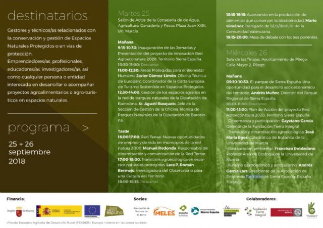 Este miércoles en Pliego se desarrollarán las Jornadas Técnicas del Proyeco Agroeconatura 2020 - 1, Foto 1
