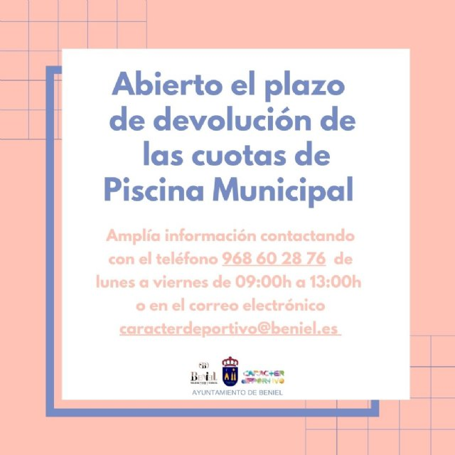 Abierto el plazo de devolución de las cuotas de Piscina Municipal - 1, Foto 1