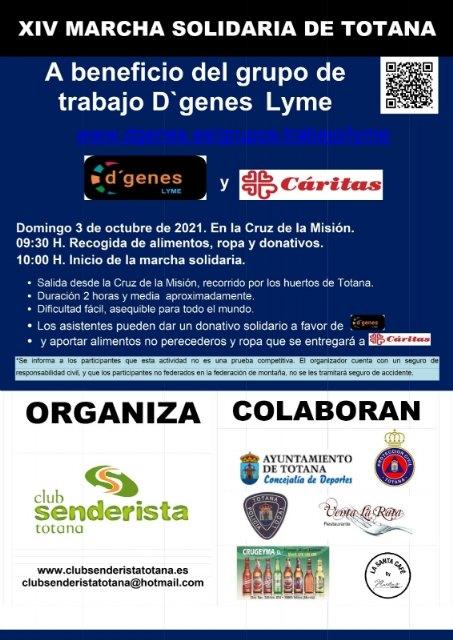 El Club Senderista celebra el domingo 3 de octubre la XIV Marcha Solidaria, a beneficio del grupo D´Genes Lyme y Cáritas, Foto 2