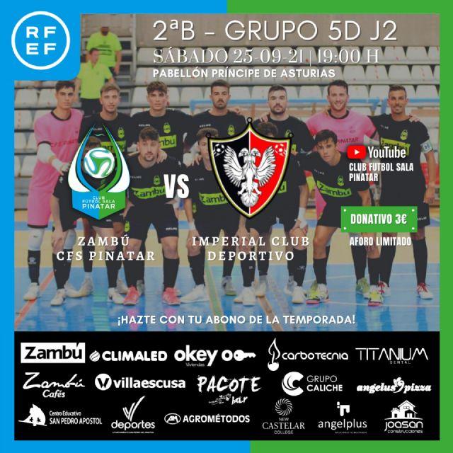 Zambú CFS Pinatar - Imperial Deportivo: a por la segunda victoria consecutiva en un duelo de ´gallitos´ - 1, Foto 1
