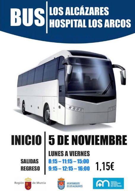 El Ayuntamiento de Los Alcázares pone en marcha el autobús al Hospital Los Arcos - 1, Foto 1