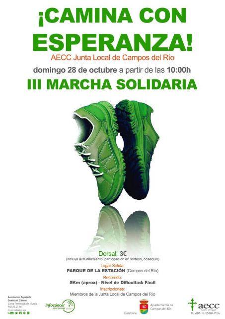 La AECC celebra este domingo III Marcha Solidaria 'Camina Con Esperanza' - 1, Foto 1