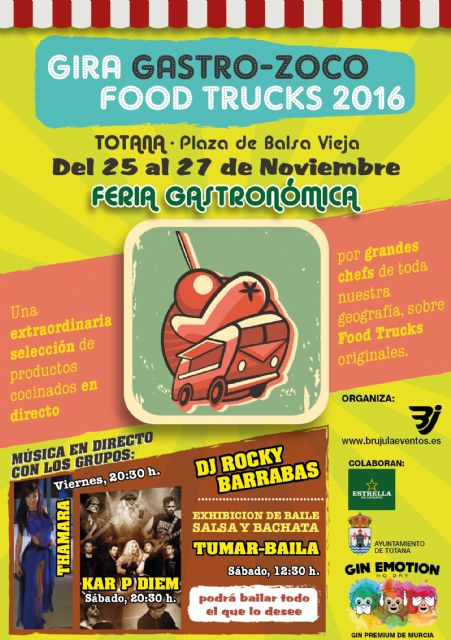 "The Plaza de la Balsa Vieja de Totana hosts this weekend, for the first time, the festival of street food vehicles ""Food Trucks"""