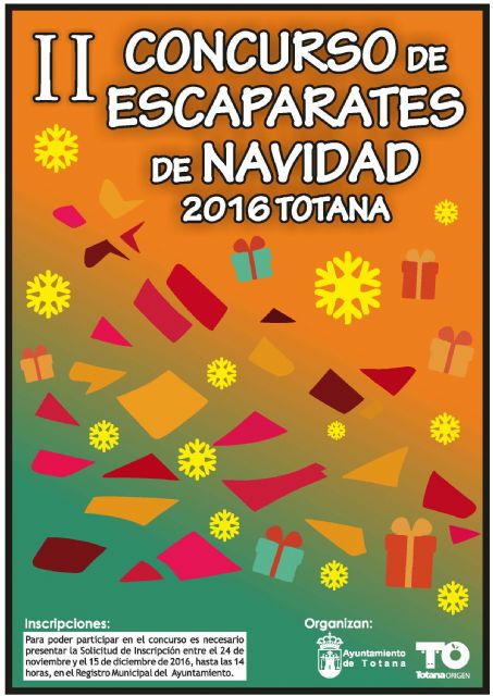 "The bases of the Second Competition of Christmas Showcases ""Totana'2016"" organized by the Department of Festivities are approved"
