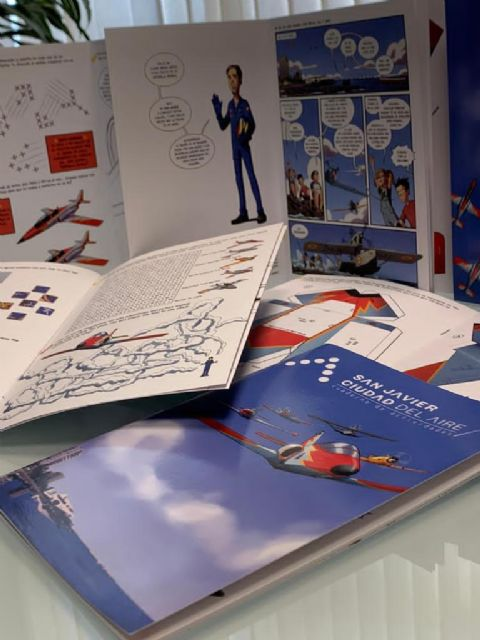 San Javier, ciudad del aire edita un  cuaderno de actividades sobre la Aviación y San Javier - 1, Foto 1