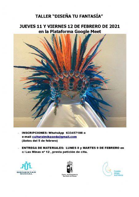 La concejalía de Bienestar Social y la asociación Mikaseda organizan el taller Diseña tu fantasía - 1, Foto 1
