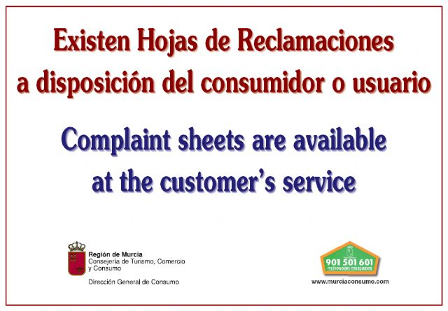Remember the need for businesses to have complaint forms for users and consumers