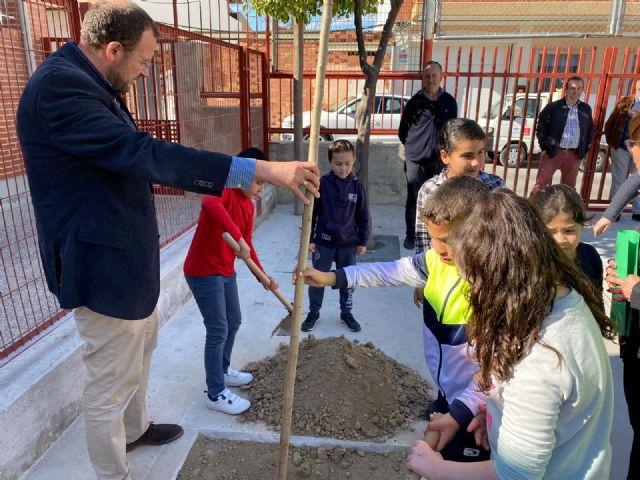 El colegio Francisco Salzillo de Los Ramos se suma a la plantación de nuevo arbolado gracias al Plan Foresta - 1, Foto 1