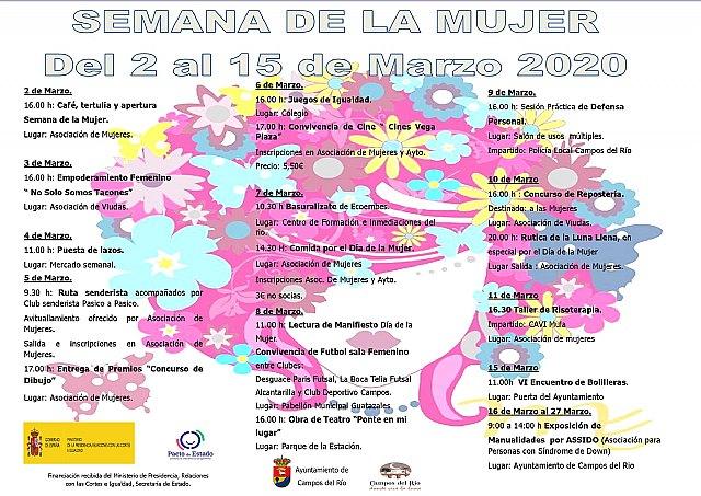 Del 2 al 15 de marzo, Semana de la Mujer en Campos del Río - 1, Foto 1